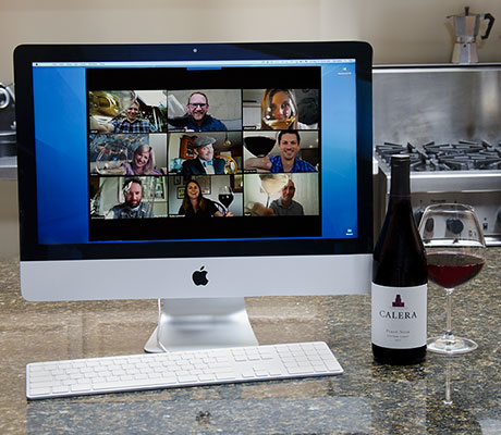 Virtual wine tasting with Calera