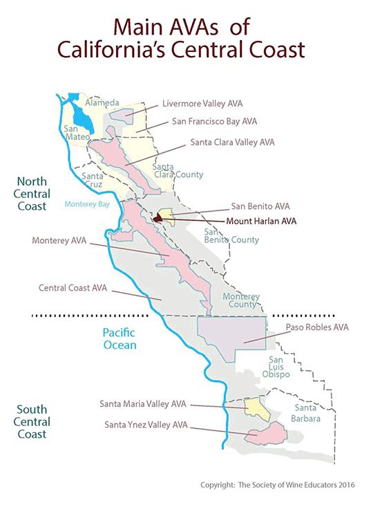 Central Coast Vineyard Regions, California | Calera Wine Company on
