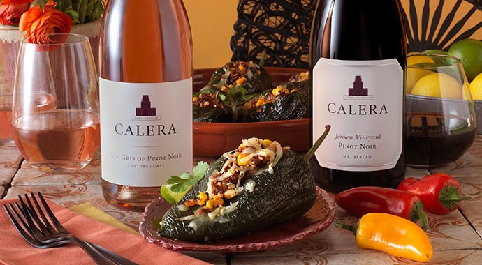 Recipe: Stuffed Poblano Peppers paired with Pinot Noir