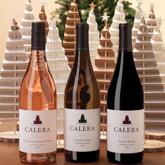 Three bottles of Calera Central Coast Wines