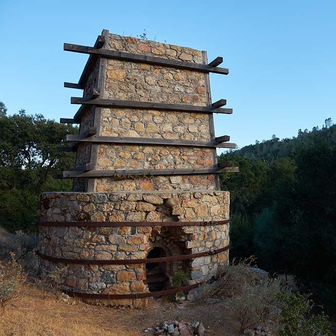 Full view of the Calera limekiln