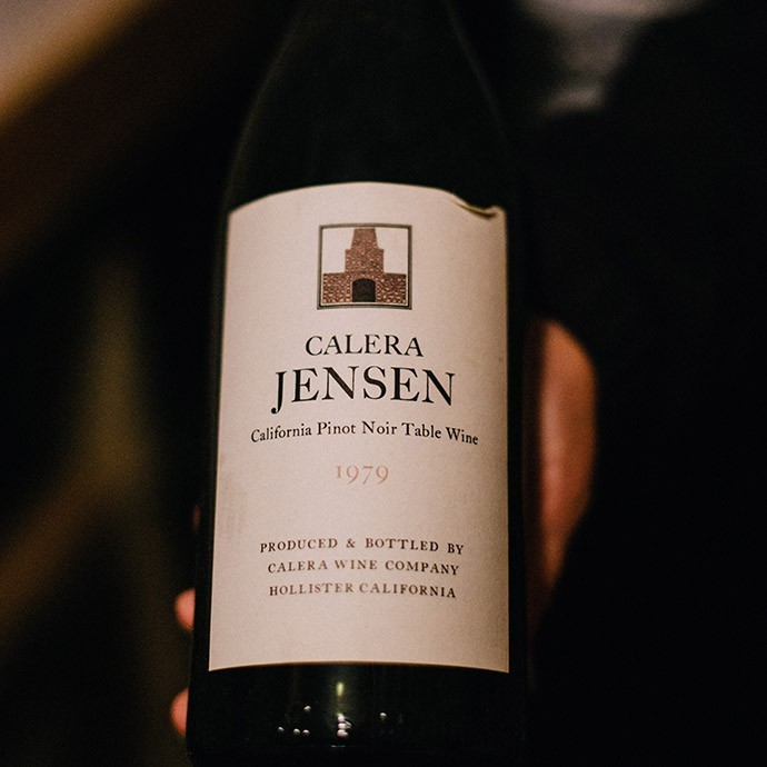 Original bottle of 1978 Jensen Pinot Noir