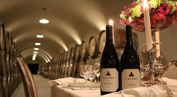 Calera wine cave with ambient lighting